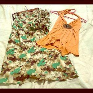 Dress and shirt. Spring bundle.